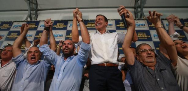 Ao lado de lideranças, Doria anuncia sua pré-candidatura ao governo de SP