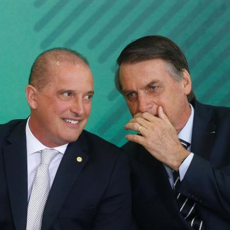 Onyx conversa com o presidente da República, Jair Bolsonaro (PSL) - DIDA SAMPAIO/ESTADÃO CONTEÚDO