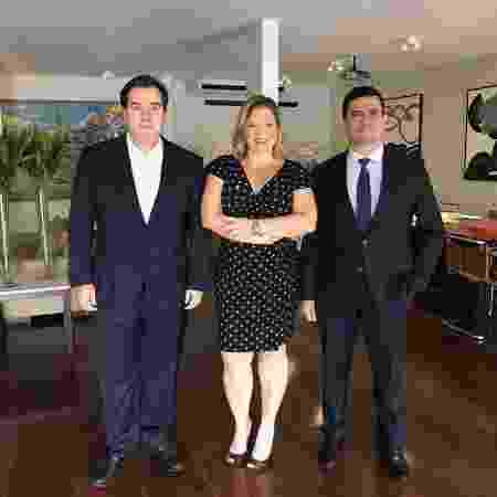 28.mar.2019 - Rodrigo Maia, Joice Hasselmann e Sergio Moro - Arquivo pessoal