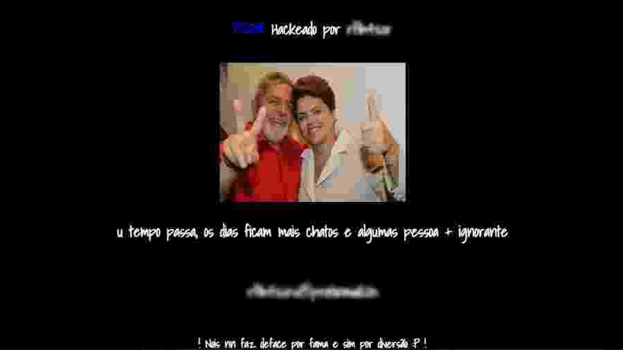 Site do PSDB hackeado - Reprodução