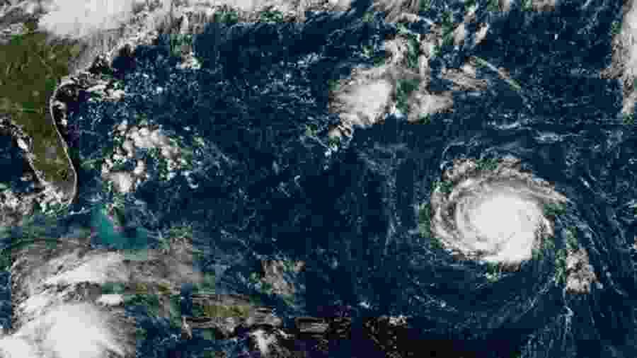 O furacão Florence atingiu a costa leste dos EUA no ano passado - NOAA