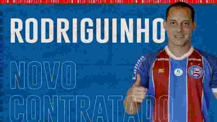 Bahia anuncia contratação do meia Rodriguinho - Divulgação/EC Bahia