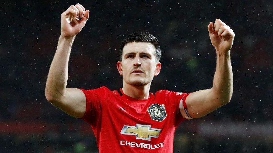 Capitão do Manchester United, Harry Maguire, disse que o próprio time é seu principal rival - PHIL NOBLE