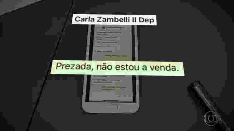 Print Moro x Zambelli 1 - Rede Globo/Reprodução - Rede Globo/Reprodução