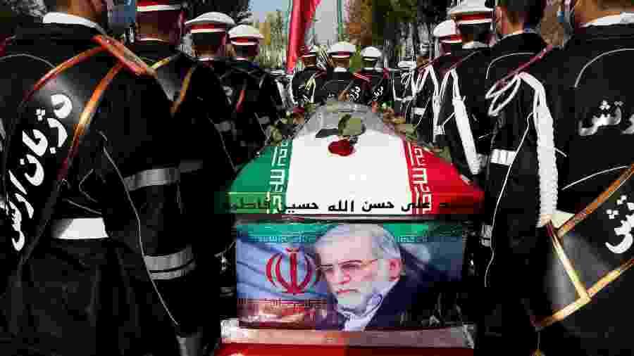 Forte presença de militares em funeral de Fakhrizadeh mostra que ele tinha lugar de destaque na Defesa do país - Reuters
