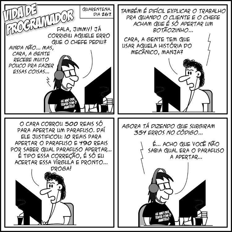 Tirinha Vida de Programador - Know How - Andre Noel/Vida de Programador - Andre Noel/Vida de Programador