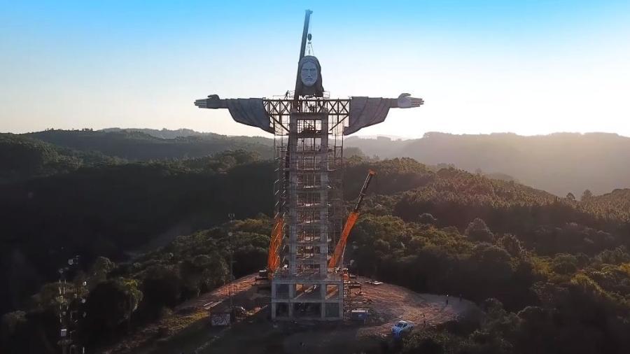 Estátua de Cristo em Encantado (RS) terá 43 metros - Divulgação/Associação Amigos do Cristo Protetor