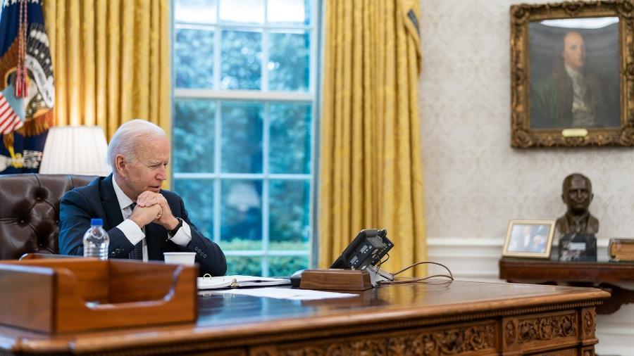 Joe Biden reverteu a posição norte-americana e deu seu apoio à negociação de quebra de patente de vacinas contra a covid na OMC - White House