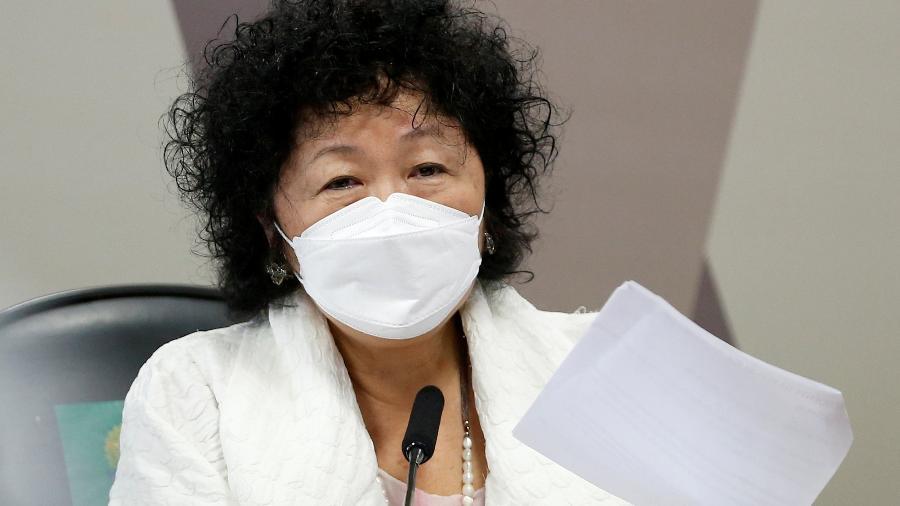 01.jun.2021 - A médica Nise Yamaguchi durante depoimento na CPI da Covid, no Senado - Adriano Machado/Reuters