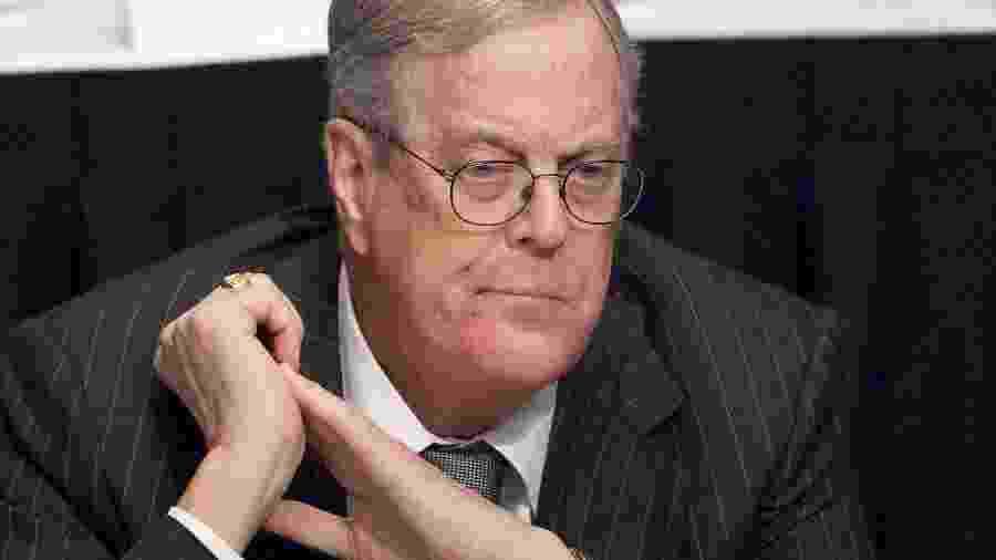 O bilionário David Koch - Reprodução