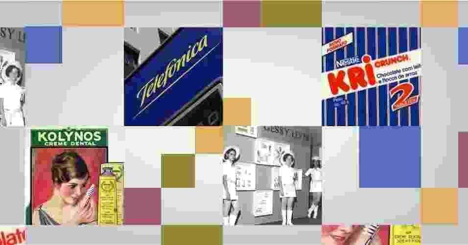 Montagem com marcas que mudaram de nome - Arte/UOL