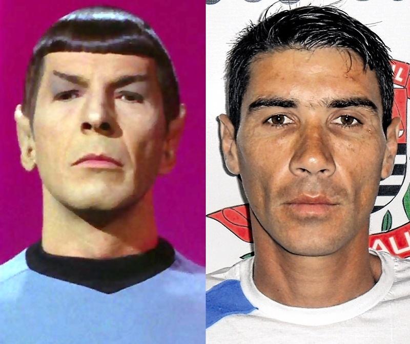 """Senhor Spock (à esquerda) e o suspeito de roubo em Bauru, apelidado de Spock pela semelhança com o personagem de """"Jornada nas Estrelas"""","""