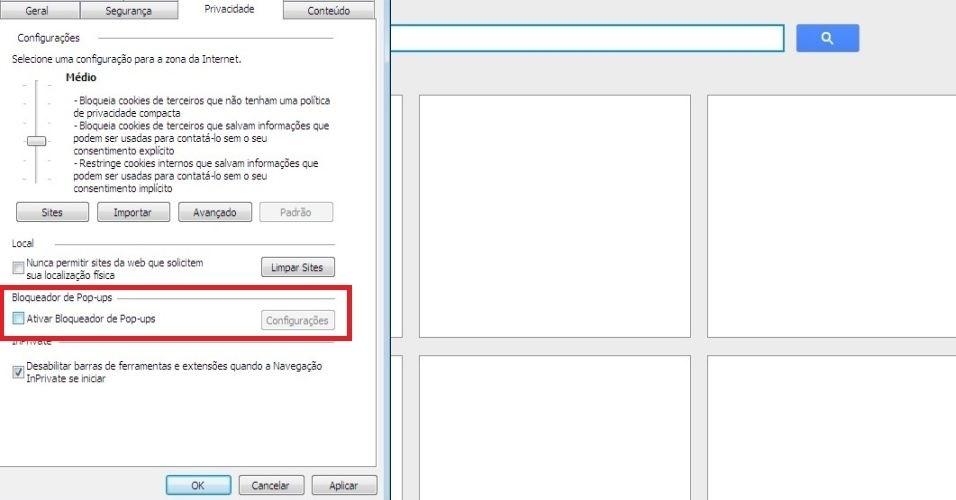 Mozilla Firefox. Assinale a opção 'Bloquear janelas pop-up' Saiba como impedir pop-ups de abrirem automaticamente no navegador