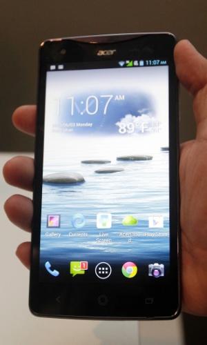 A Acer apresentou na feira de tecnologia Computex, em Taiwan, o smartphone Liquid S1, com tela de 5,7 polegadas (e 1.280 x 720 pixels de definição)