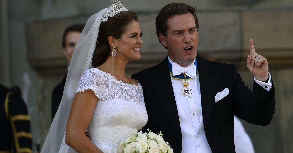 8.jun.2013 - A princesa Madeleine, filha mais nova do rei da Suécia, casou-se neste sábado (8) com o financista americano Christopher O'Neill, em Estocolmo