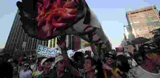Manifestantes se reúnem na avenida Paulista para mais uma Marcha da Maconha na capital paulista - Rodrigo Paiva/UOL