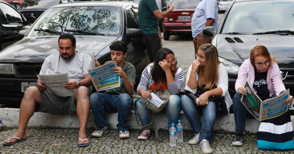 RIO DE JANEIRO - RJ - BRASIL - 09/06/2013 ? VESTIBULAR UERJ. Prova de vestibular no Campus da UERJ