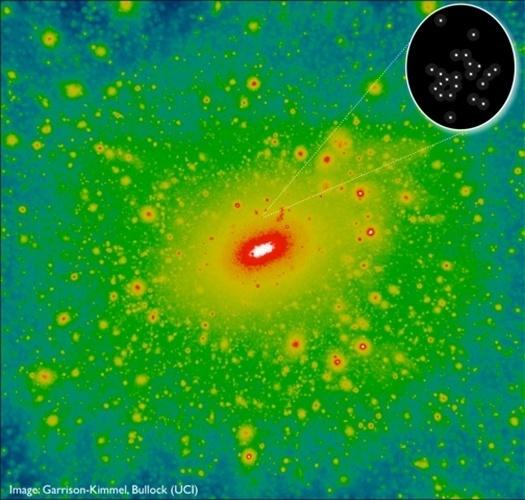 """11.jun.2013- Pesquisadores da Universidade da Califórnia, nos EUA, encontraram a galáxia com menor massa do Universo conhecido. Com um pouco mais de mil estrelas unidas por pouca matéria escura, a  Segue 2 foi vista pelo telescópio do Observatório WM Keck, A descoberta, publicada na revista científica """"Astrophysical Journal"""", oferece pistas importantes sobre como ferro, carbono e outros elementos-chave para a vida humana originalmente se formaram. Além disso, ela pode ser a ponta do iceberg, já que a teoria mais aceita atualmente prevê a existência de milhares de galáxias anãs ao redor da Via Láctea. A Segue 2 foi descoberta em 2009 na constelação de Aries (a 114 mil anos-luz) e tem um brilho apenas 900 vezes maior do que o do Sol. Isso é minúsculo em comparação com a Via Láctea, que é 20 bilhões de vezes mais brilhante que o Sol"""