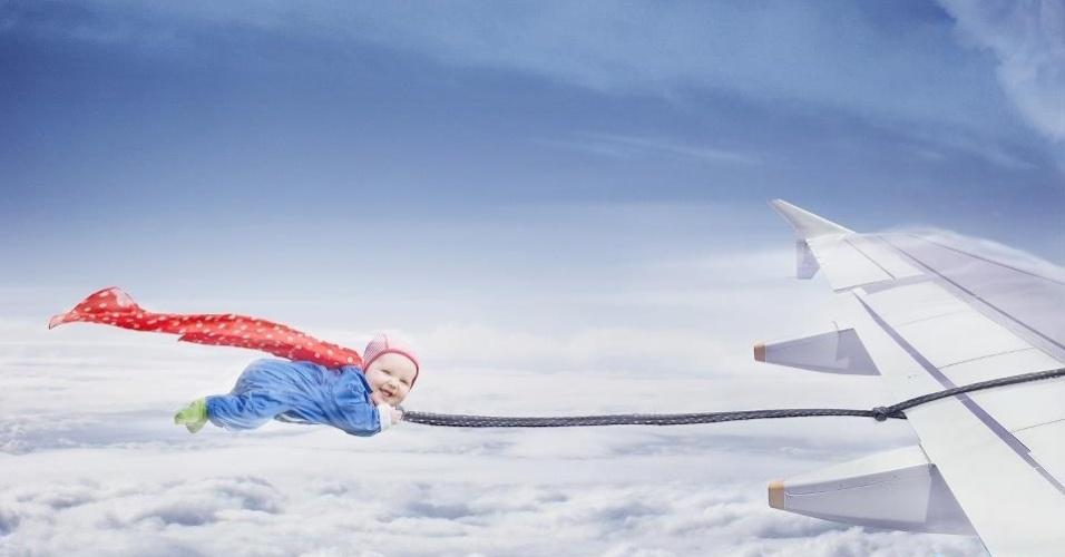 Sueco faz série de fotos com sua filha em altas aventuras