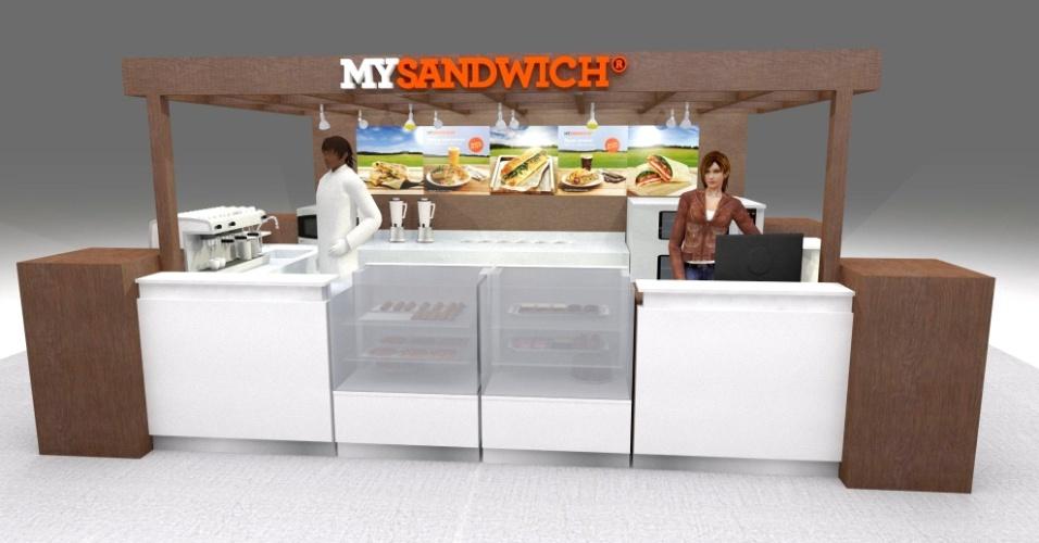 Quiosque franquia My Sandwich