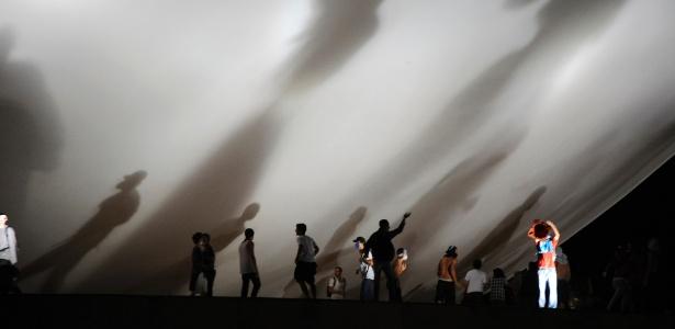 """Nas chamadas """"Jornadas de Junho"""" de 2013, manifestantes subiram na marquise do Congresso"""