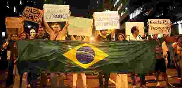 Protesto no Rio reuniu cerca de 100 mil pessoas na segunda-feira (17) - Fabio Teixeira/UOL