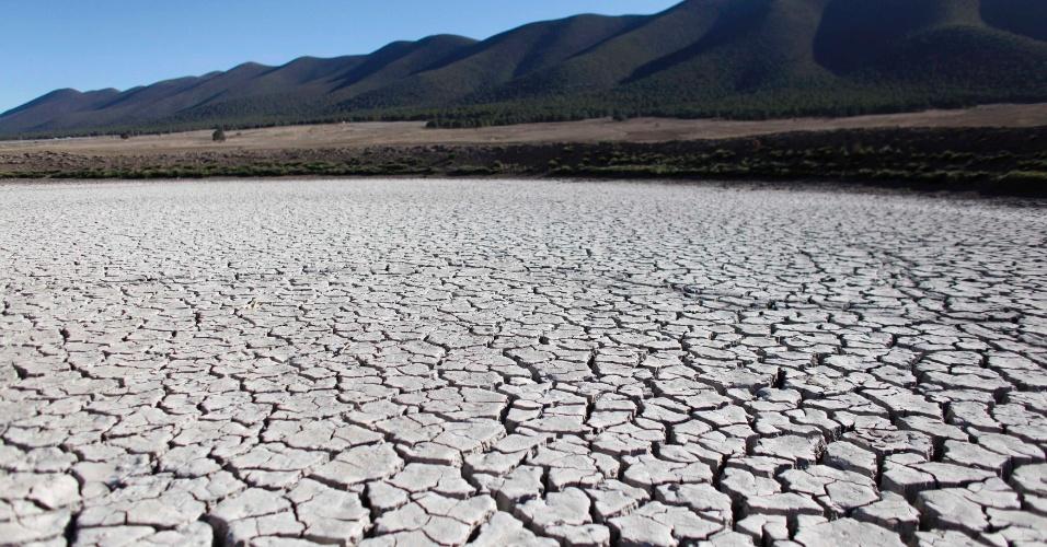 17.jun.2013 -2011: Terreno em San Isidro de Cienega, no Estado de Nuevo Leon, mostra as marcas da pior seca no México em sete décadas