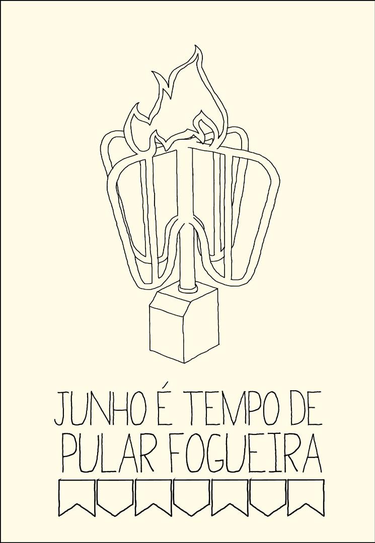 18.jun.2013 - A artista visual Laura Viana brincou ao relacionar as tradicionais fogueiras das comemorações de São João, que ocorrem no mês de junho, com as manifestações contra o aumento da tarifa do transporte público.