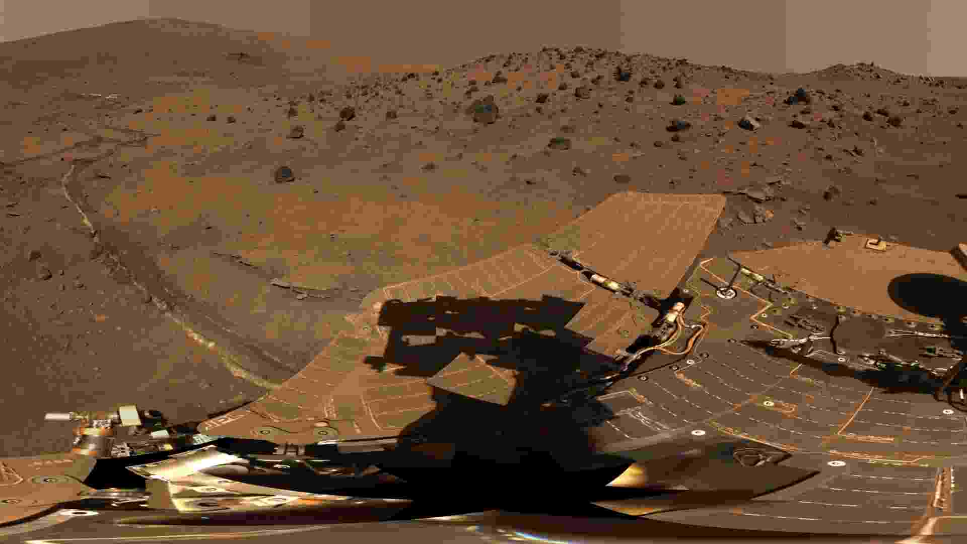 19.jun.2013- Ao analisar rochas da superfície de Marte capturadas pelo robô Spirit e compará-las a meteoritos marcianos, pesquisadores descobriram que as rochas são cinco vezes mais ricas em níquel do que os meteoritos. O que poderia explicar isso é que as rochas estavam em um ambiente rico em oxigênio há 4 bilhões de anos - NASA/JPL-Caltech/Universidade de Cornell/Universidade do Estado do Arizona