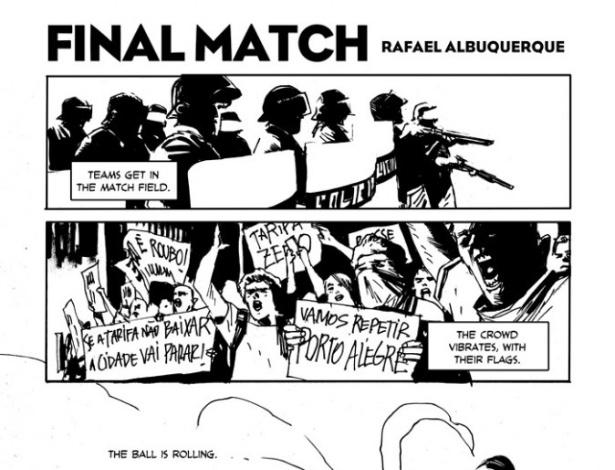 20.jun.2013 - O quadrinista Rafael Albuquerque publica tira sobre os protestos em Porto Alegre e retrata a ação da polícia durante as manifestações