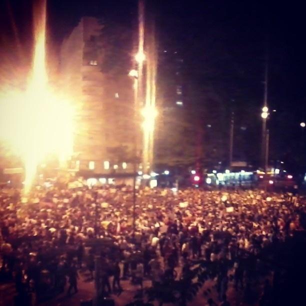 20.jun.2013 - Paloma (@palomarmorais) mostrou a aglomeração que tomou a praça Sete, em Belo Horizonte, capital de Minas Gerais