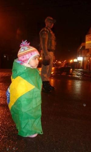 19.jun.2013 - Francisco Robson da Silva enviou fotos da manifestação que reuniu cerca de 800 pessoas em Canoinhas, Santa Catarina