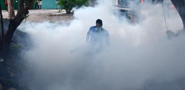 Em diversas regiões, o fumacê é usado no combate ao mosquito Aedes aegypti