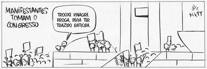 21.jun.2013 - O cartunista Bennet publicou uma série de charges inspiradas nos protestos que acontecem por todo o país