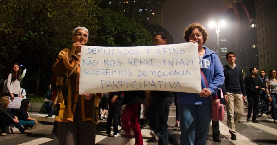 20.jun.2013 - Internauta Alan Collet enviou fotos tiradas na avenida Paulista, em São Paulo (SP)