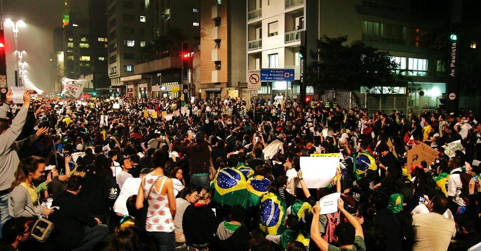 21.jun.2013 - Internauta Fabrício Carvalho Barros mostra imagens do protesto em São Paulo (SP)