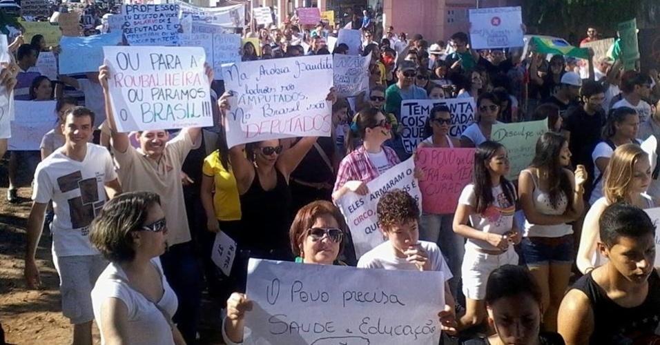 Internauta Cláudio Júlio Casara de Melo, morador de Vilhena (RO), registrou o ''Dia do Basta'', protesto contra a corrupção