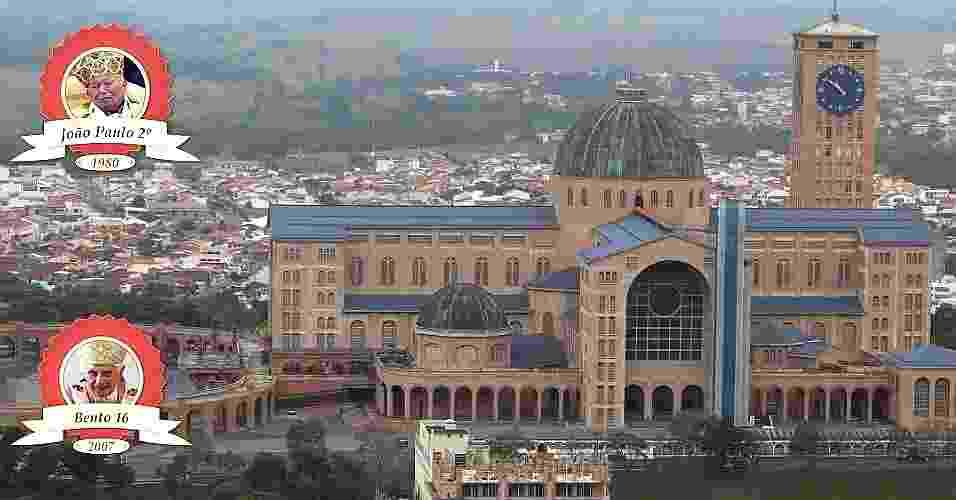 APARECIDA: o município do interior de São Paulo recebeu o papa João Paulo 2º, em 1981, e o papa Bento 16, em 2007. Com a visita de Francisco, em julho, ela será a única cidade brasileira a ser abençoada por todos os pontífices que já estiveram no país - Denis Armelini/UOL