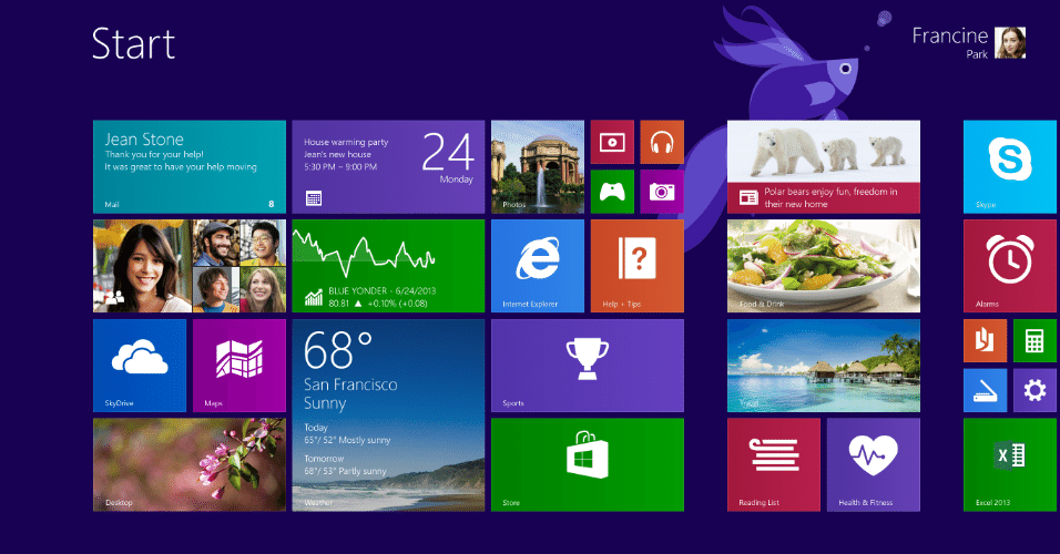 Tela Windows 8.1