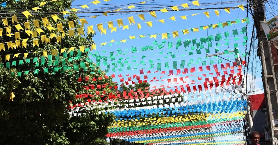 29.jun.2013 - Festa de São João na cidade de Santo Estevão, na Bahia