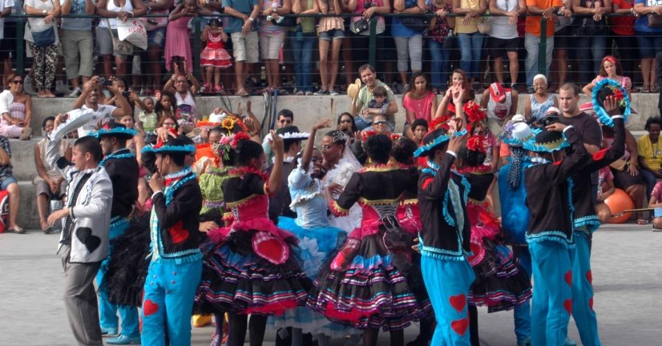 29.jun.2013 - Quarta edição do São João Carioca anima o público no Parque Madureira, no subúrbio do Rio de Janeiro. A festa junina reúne música, arte e comidas típicas