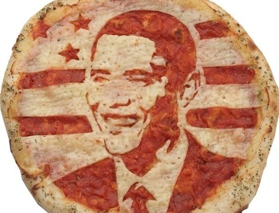 3.jul.2013 - Pizza com imagem do presidente americano Barack Obama feita por Domenico Crolla, em Glasgow, Escócia