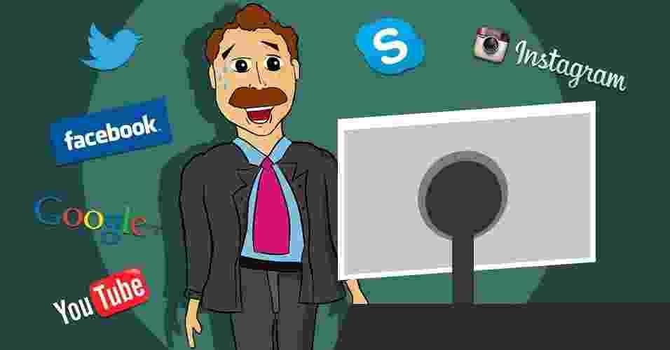 Crise nas redes sociais; facebook; twitter; youtube - Arte/UOL