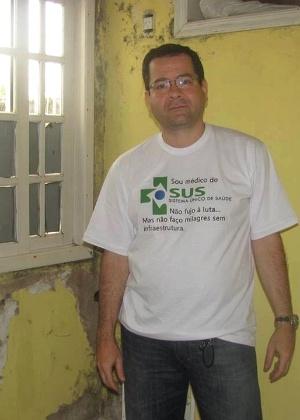 Médico mostra infiltrações e mofo na UBS de Itaipuaçu, distrito de Maricá (RJ) - Arquivo pessoal