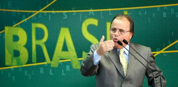 O ministro da Secretaria de Governo, Geddel Vieira Lima, durante entrevista