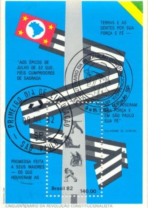 selo comemorativo de 50 anos da revolução constitucionalista de 1932