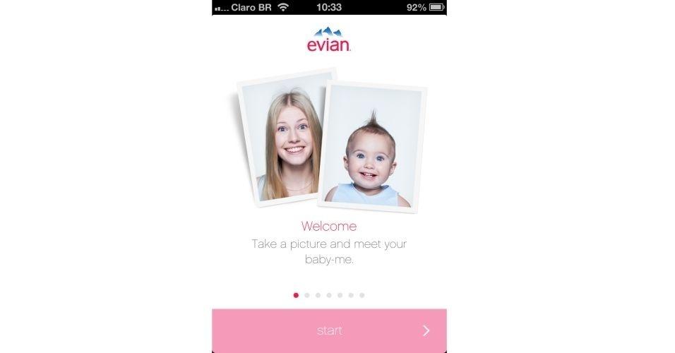 Após terminar de instalar o aplicativo, clique em ?start? ? botão rosa localizado na parte inferior da tela