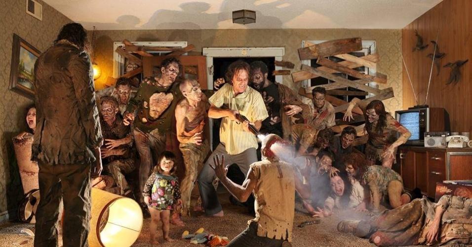 15.jul.2013 - Fotógrafo usa crianças para recriar cenas de filmes de terror