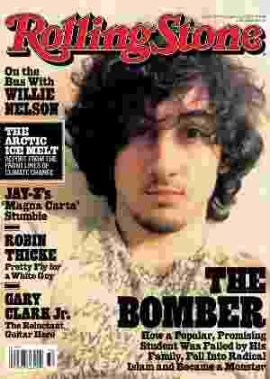 Capa com o jovem Dzhokhar Tsarnaev, acusado dos atentados da maratona de Boston, em abril, nos Estados Unidos, gerou uma série de críticas - Wenner Media/AFP