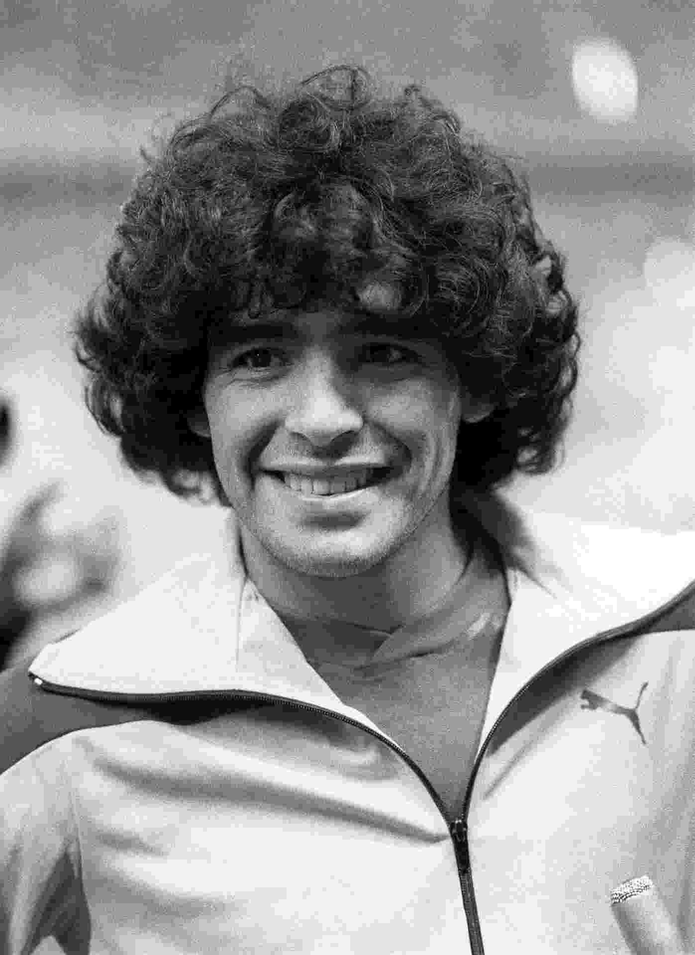 Maradona em 1981, no Boca Juniors - AFP